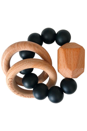 Hayes Silicone and Wood Teether Ring