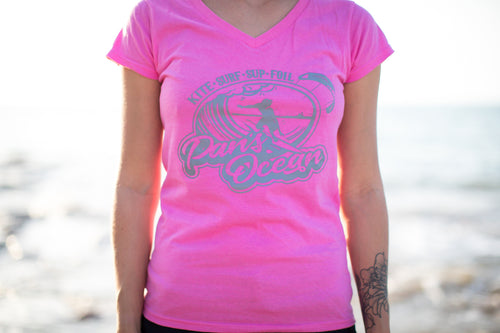 Women´s T-shirt V-neck PINK