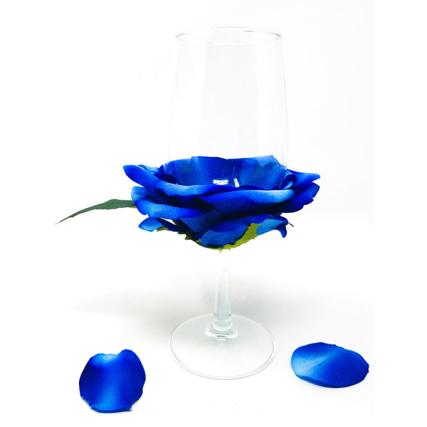 Blue-rose-petal-wine-glass