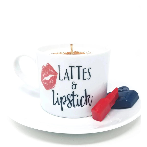 Lipstick Coffee Cup Candle  (Coffee Scents)