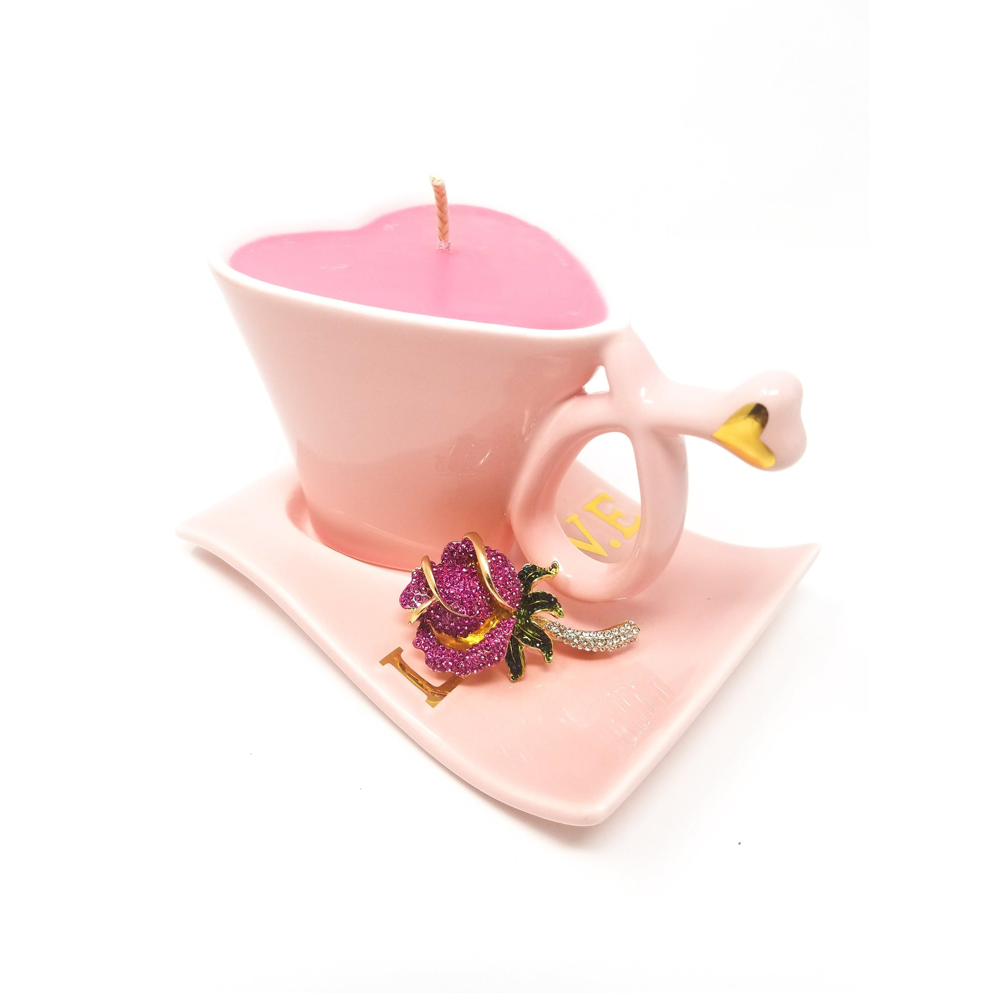 Pink-Coffee-Candle-Rose-Petal-Scent