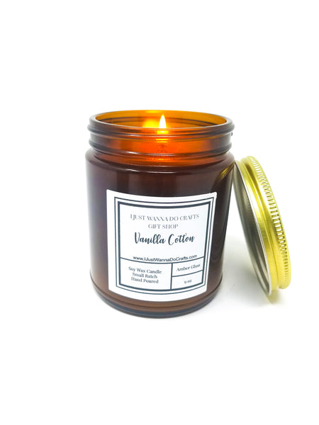 Vanilla-Cotton-soy-wax-candle