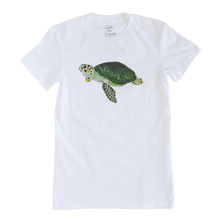 Load image into Gallery viewer, Sea Turtle Print White Adult Crew Neck Tee | Shrimp 'n Lobster