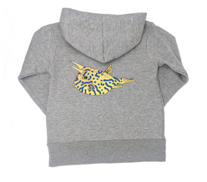 This one of a kid Cowfish Print hoodie with kangaroo pouch is the perfect gift for any fish lover.