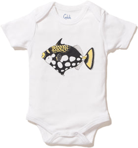 Triggerfish Print Short Sleeve Onesie