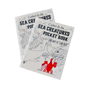 Color-It-In Sea Creatures Pocket Book with Shrimp n' Lobster