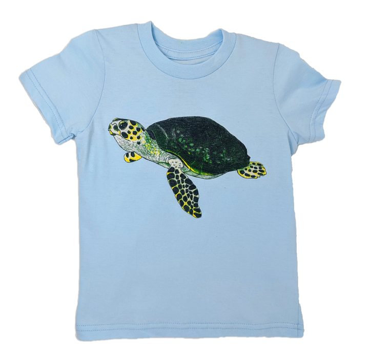 This Baby blue Sea Turtle toddler tee is the perfect gift for every ocean lover. The soft cotton and eco printed Sea Turtle hold colors for even the most adventurous kid! Multiple washes with no fading. Show you love the ocean by wearing Shrimp 'n Lobster apparel!