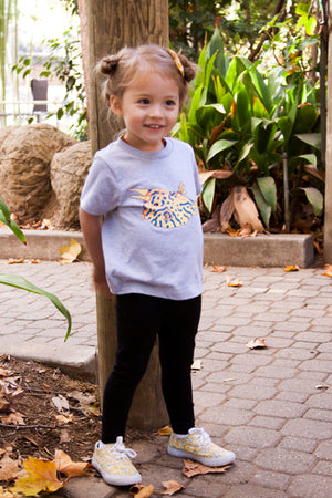 The Cowfish toddler tee is the perfect gift for every ocean lover. The soft cotton and eco printed cowfish hold colors for even the most adventurous kid! Multiple washes with no fading.