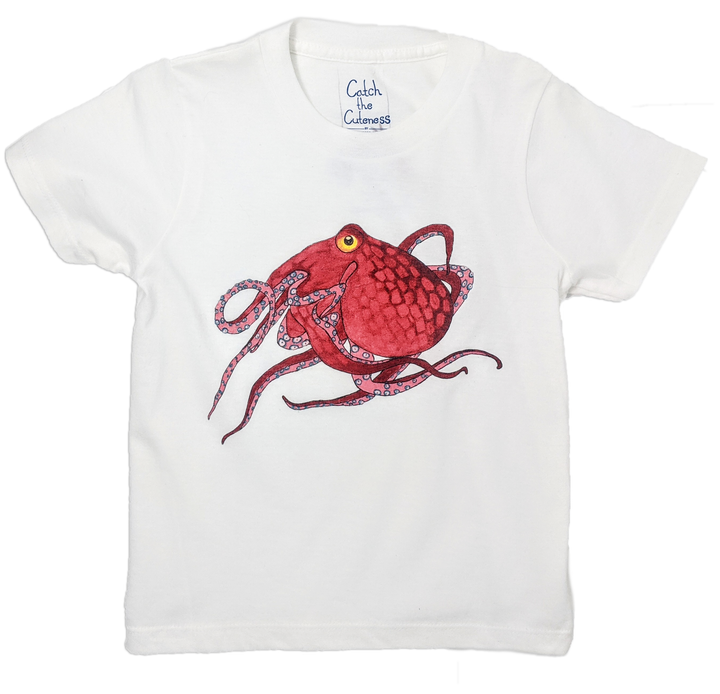 This Octopus toddler tee is the perfect gift for every ocean lover. The soft cotton and eco printed Octopus hold colors for even the most adventurous kid! Multiple washes with no fading. The manatee comes in both baby blue, navy and grey toddler tee. Show you love the ocean by wearing Shrimp 'n Lobster apparel!