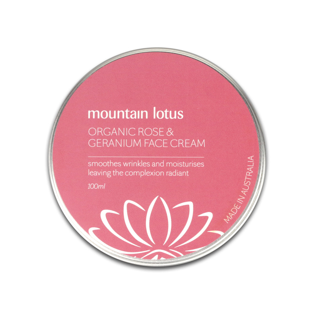 Organic Rose Geranium Face Cream - Happy Herb Co