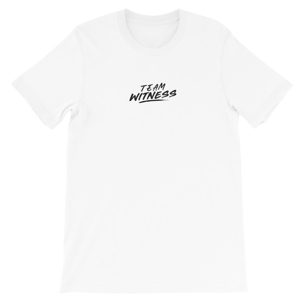 Team Witness Text Tee in White