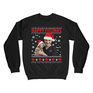 Happy Fitzmas Sweatshirt- Black