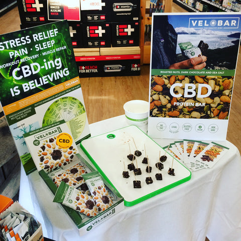 VELOBAR CBD in-store demo Dean's Natural Food Market 2019