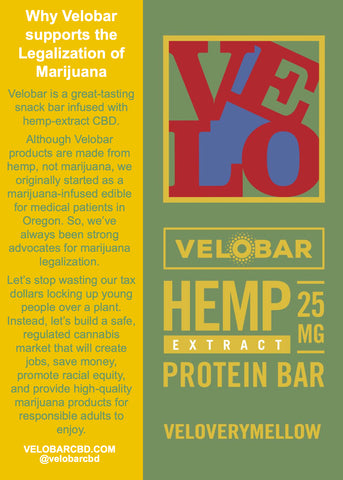 Velobar supports the legalization of marijuana and a YES vote on Public Question #1 in New Jersey
