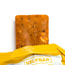 Load image into Gallery viewer, Velobar Hemp Extract Protein Bar Peanut Butter Single Package Closeup