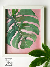 Load image into Gallery viewer, Monstera Blush Art Print