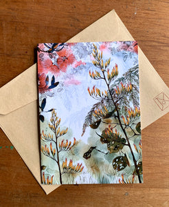 Flax Flowers - Note Cards