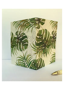 Tropical Pattern - White - Note Cards