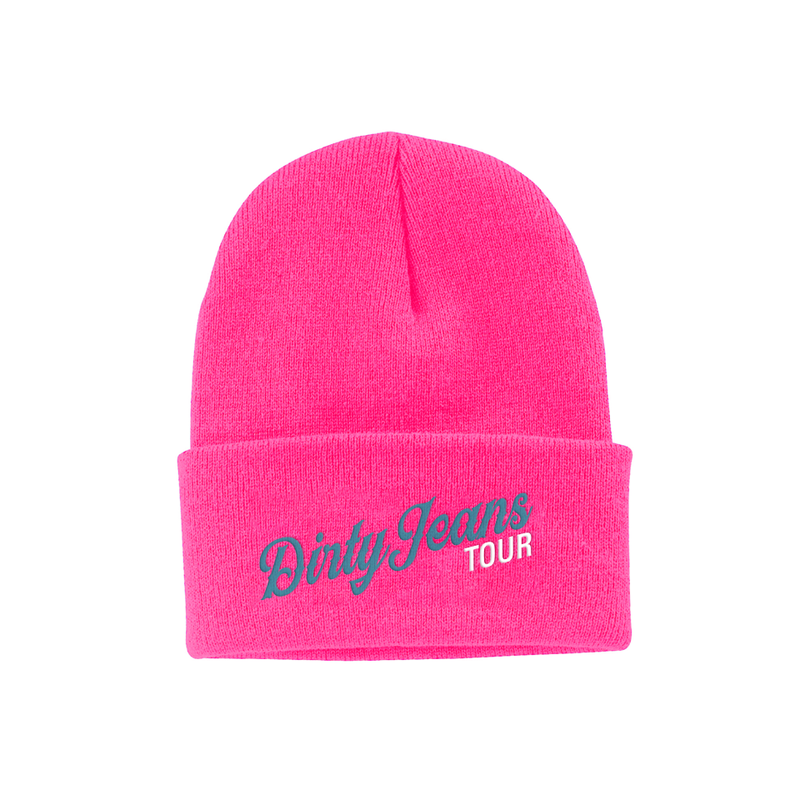 Pink Dirty Jeans Beanie