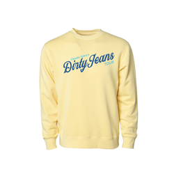 Yellow Dirty Jeans Crewneck