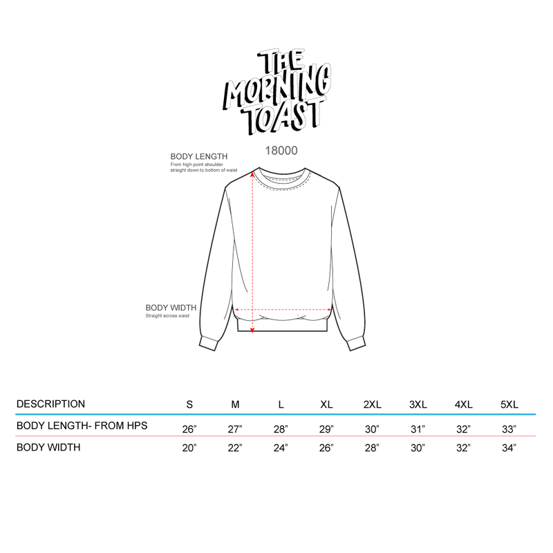 Toasty & Bright Black Crewneck