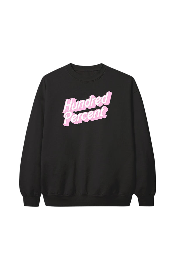 Hundred Percent Black Crewneck