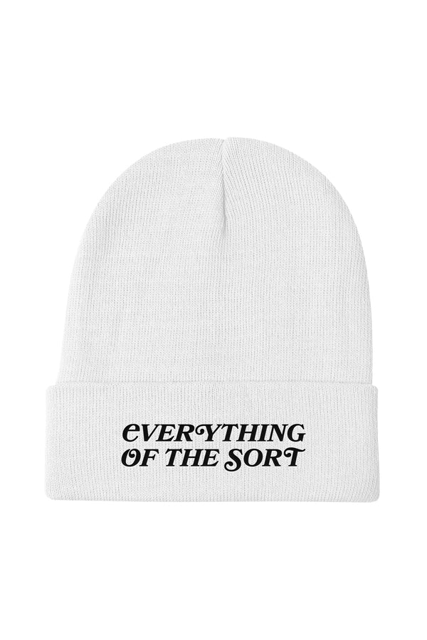 Everything of the Sort White Beanie