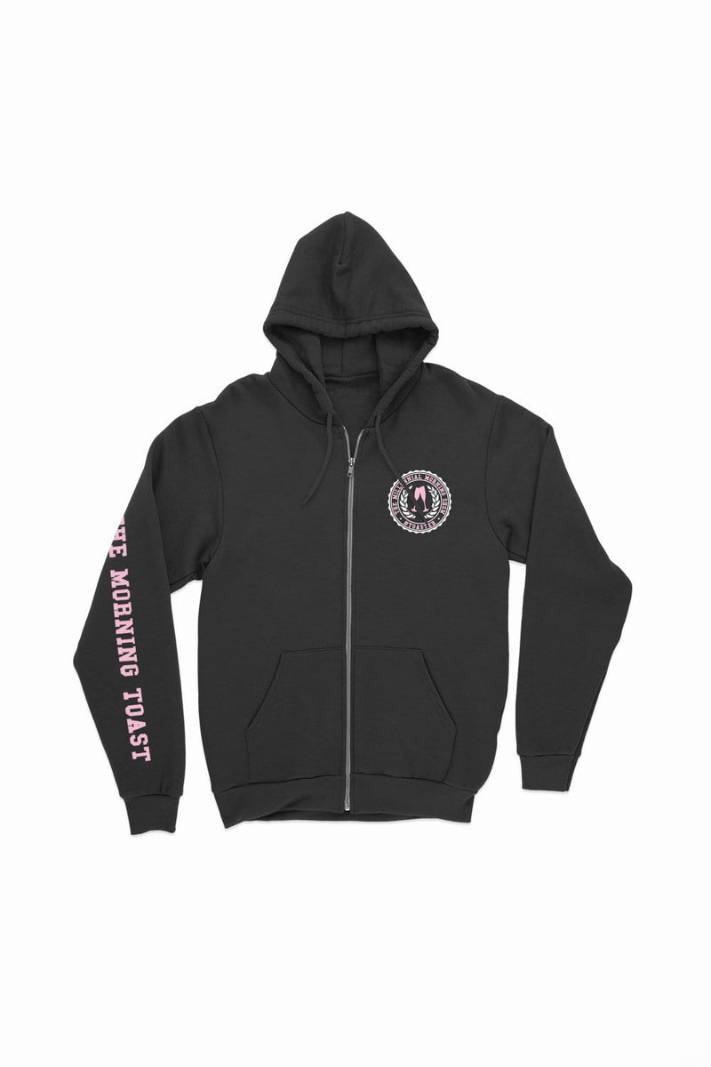 TMT Black Zip Up Hoodie