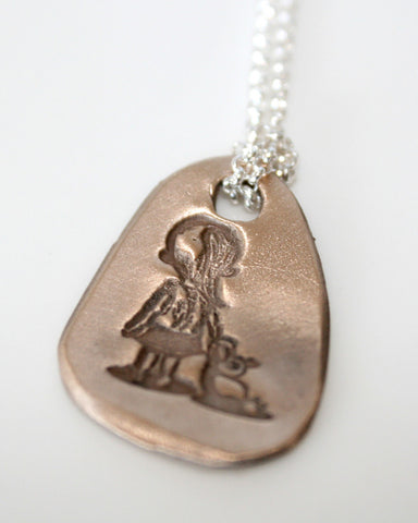 Be Brave Girl Pendant Necklace