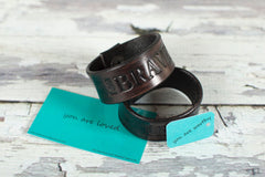 Pure Leather I am Brave Bracelet