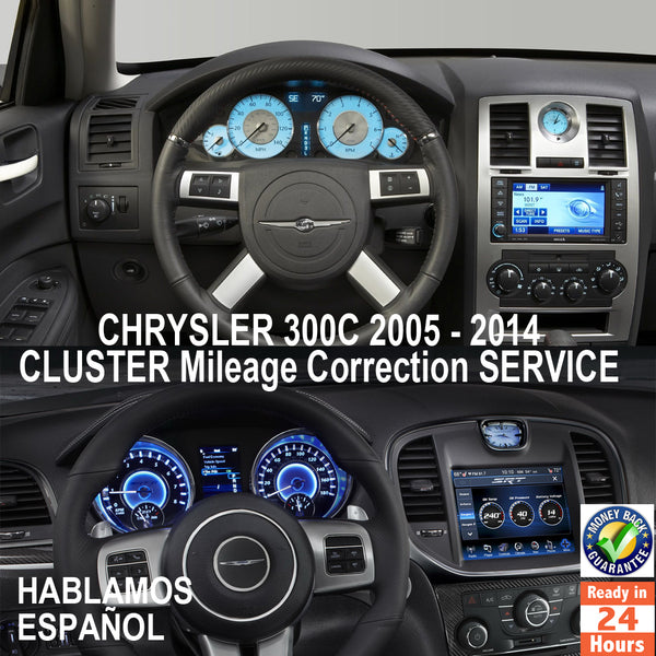 CHRYSLER 300C 300M 1999-2014 Instrument Cluster Mileage Correction Service