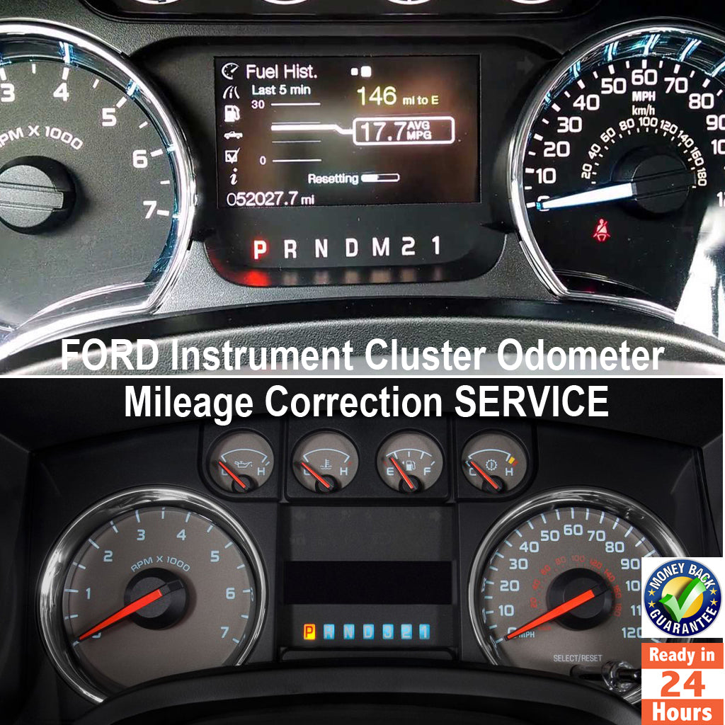 FORD F-150/250/350/450 - 1992-2017 Instrument Gauge Cluster Mileage Correction/Programming Service