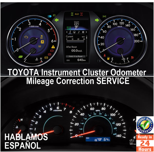 TOYOTA 1996-2017 Instrument Gauge Cluster Mileage Correction/Programming Service