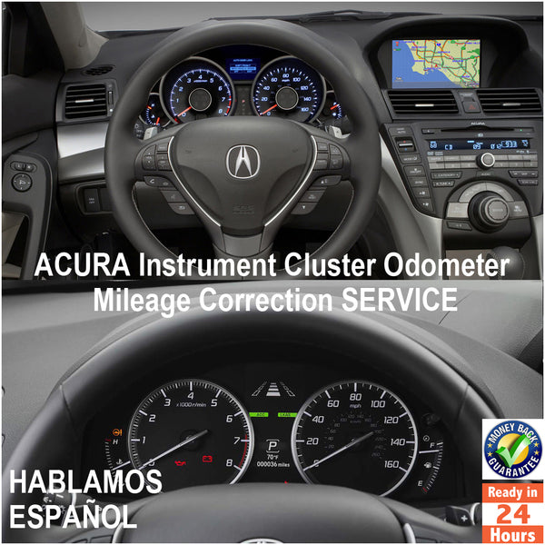 ACURA 1998-2017 Instrument Gauge Cluster Mileage Correction/Programming Service