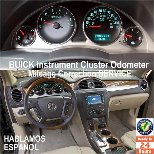 BUICK 2003-2016 Instrument Gauge Cluster Mileage Correction/Programming Service