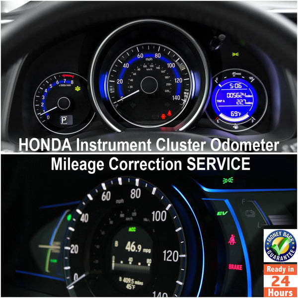 HONDA 1992-2017 Instrument Gauge Cluster Mileage Correction/Programming Service