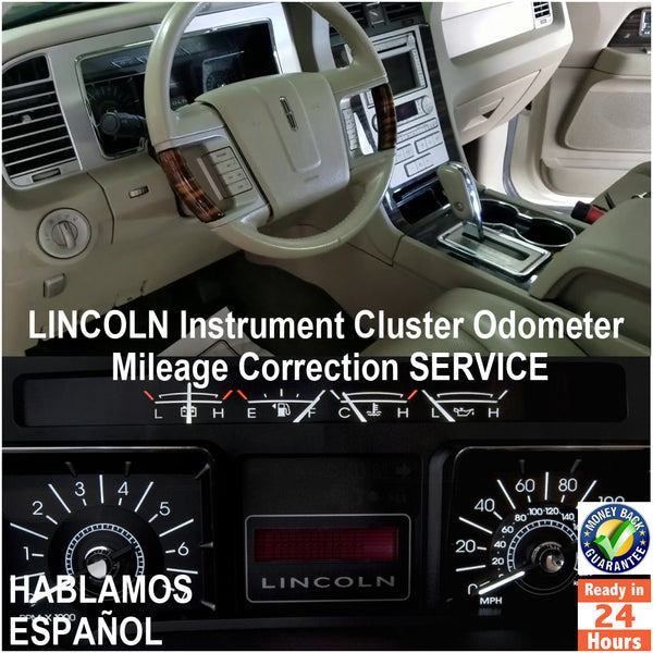 LINCOLN 1999-2011 Instrument Gauge Cluster Mileage Correction/Programming Service