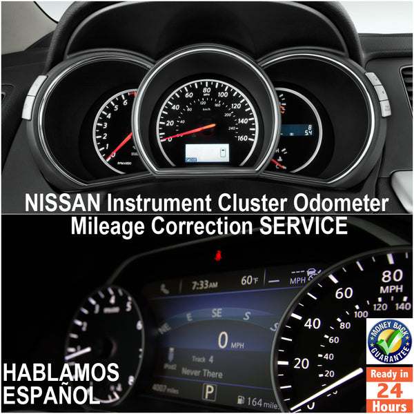 NISSAN 1998-2017 Instrument Gauge Cluster Mileage Correction/Programming Service