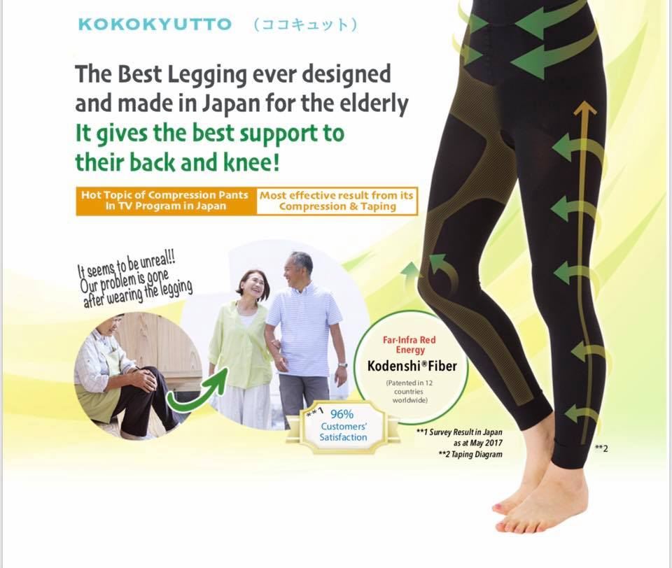 Kokokyutto Compression Leggings (Unisex) - Black