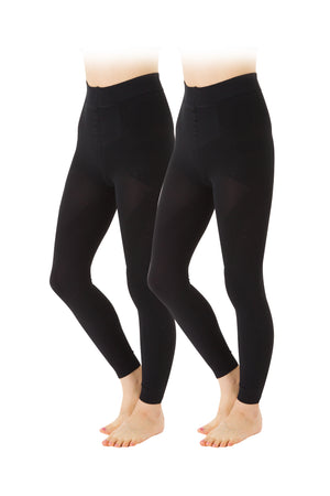 Kokokyutto Compression Leggings Twin Pack (Unisex) - Black