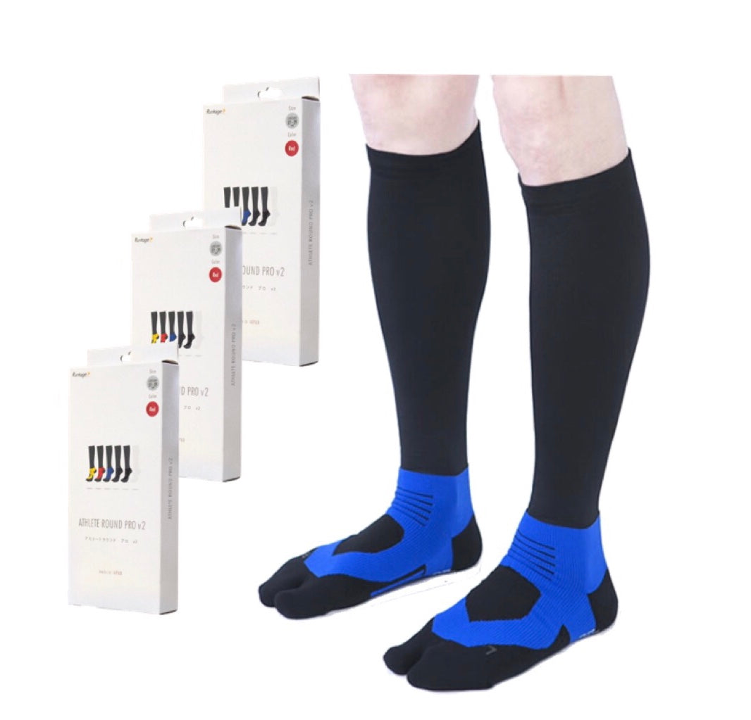 Runtage Athlete Round Pro v2 Compression High Socks (Pack of 3)