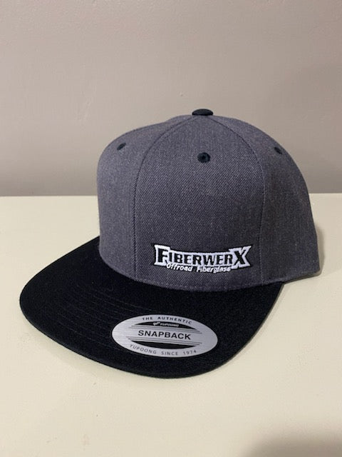 FiberwerX Snapback Hat - Black/Grey