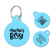 Mama's boy | Personalized Funny Pet ID Tag