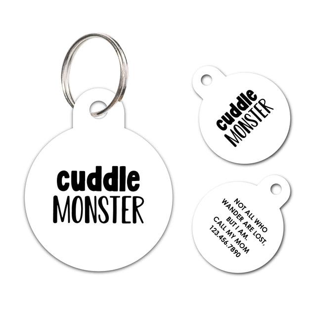 Cuddle Monster | Personalized Funny Pet ID Tag