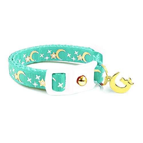 moons stars cat collar
