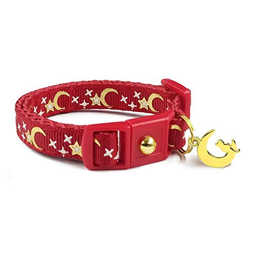 crimson red cat collar