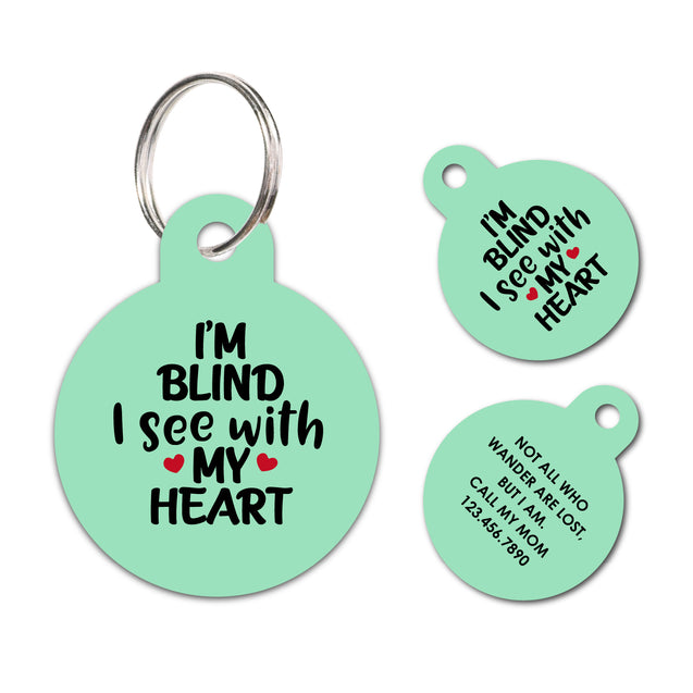Personalized Medical Blind Pet ID Tag