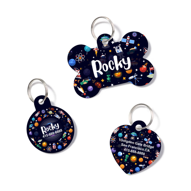 Personalized Space Pet ID Tag
