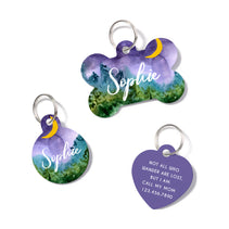 Personalized Watercolor Landscape Pet ID Tag