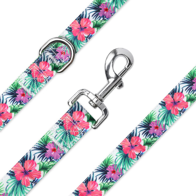Tropical Hibiscus Pet Leash